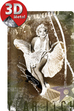 Marilyn Monroe Luftschacht-Collage Plaque en métal