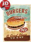 Burgers Tin Sign
