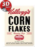 Kellogg's Corn Flakes Retro Package Plaque en métal