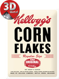 Kellogg's Corn Flakes Retro Package Cartel de chapa