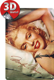 Marilyn Monroe Kopfkissen Blechschild
