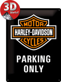 Harley-Davidson Parking Only Blikkskilt