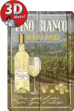 Vino Bianco Tin Sign