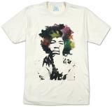 Jimi Hendrix - Acuarela Camiseta