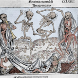 The Dance of Death (1493) by Michael Wolgemut, from the Liber Chronicarum by Hartmann Schedel Photographic Print by  Prisma Archivo