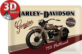 Harley-Davidson Flathead Blechschild
