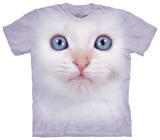White Kitten Face T-shirts