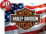 Harley-Davidson USA Logo Plaque en métal