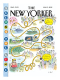 Second Avenue Line - The New Yorker Cover, March 5, 2012 Regular Giclee Print by Roz Chast