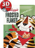 Kellogg's Frosted Flakes Tony Tiger Cartel de chapa