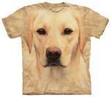 Portrait eines gelben Labradors Tshirts