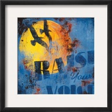 Raise Your Voice Framed Giclee Print by Rodney White