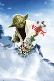 Star Wars-Yoda Snowboarding Posters