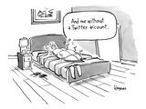 A man turned into a cockroach thinks to himself while lying in bed. - New Yorker Cartoon Premium Giclee Print by John Klossner