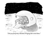 """I bet you feel pretty ridiculous bringing that wind chime."" - New Yorker Cartoon Premium Giclee Print by Tom Toro"