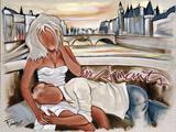 Les Amants du Pont Neuf Prints by Pierre Farel