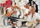 Blues livekoncert Plakater af Pierre Farel