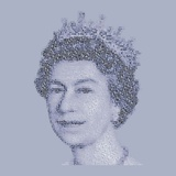 Her Majesty the Queen Print by Mike Edwards