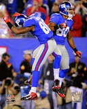 Victor Cruz & Hakeem Nicks 2011 Action Photo