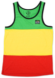 Catch a Fire - Rasta Stripe Tank T Shirts