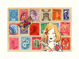 Carte Postal VI Posters by Claire Fletcher