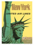United Air Lines: New York, c.1950s Prints by Stan Galli