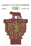 Games of the XVII Olympiad, Roma, c.1960 Art by Armando Testa