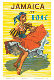 British Overseas Airways Corporation: Jamaica - Jet BOAC, c.1950s Psters