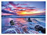 Dreaming of Hawaii: Hawaiian Beach Sunset Poster by Randy Jay Braun