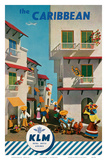 KLM Royal Dutch Airlines: The Caribbean, c.1960s Prints by J.F. Van Der Leeuw