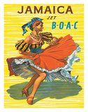 British Overseas Airways Corporation: Jamaica - Jet BOAC, c.1950s Giclee Print by  Hayes