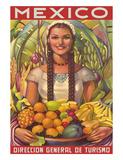 Direccion General de Turismo: Mexico - Plenty of Fruit Wydruk giclee autor Jorge Gonzalez Camarena