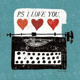 Vintage Desktop: Typewriter Plakater af Michael Mullan