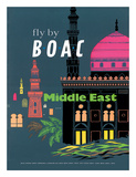 British Overseas Airways Corporation: Fly by BOAC - Middle East, c.1954 Giclee Print