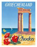 Rhodos: Griechenland, Greece c.1954 Giclée-tryk af C. Neuria