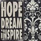 Hope Dream Inspire Posters par Stephanie Marrott