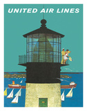 United Air Lines: Lighthouse, c.1960s Giclee Print by Stan Galli