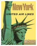 United Air Lines: New York, c.1950s Giclée-tryk af Stan Galli
