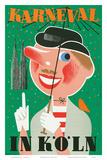 Karneval In Koln: Germany c.1950 Prints by Anton Wolff