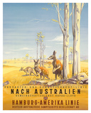 Hamburg America Line: Australian Outback, c.1935 Giclée-tryk af Ottomar Anton