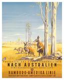 Hamburg America Line: Australian Outback, c.1935 Wydruk giclee autor Ottomar Anton