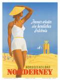 Nordseeneilbad Norderney Resort: Always a Wonderful Experience, c.1949 Prints by Willy Hanke