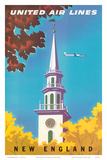 United Air Lines: New England, c.1950s Print by Joseph Binder