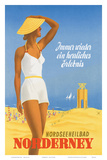 Nordseeneilbad Norderney Resort: Always a Wonderful Experience, c.1949 Posters by Willy Hanke
