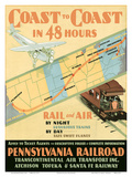 Pennsylvania Railroad: Coast to Coast in 48 Hours Prints