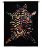 Zebradelic Wall Tapestry by  Unknown