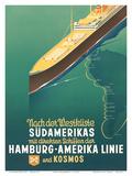 Hamburg America Line: HAPAG Nach der Westküste Südamerikas, c.1930s Prints by Ottomar Anton