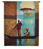 On the River I Wall Tapestry by Keith Mallett