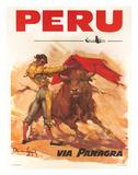 Panagra Pan American-Grace Airways: Peru, c.1946 Giclee Print by Carlos Ruano-Llopis
