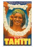 Tahiti, La Perle du Pacifique, c.1930s Print by A. Doquene